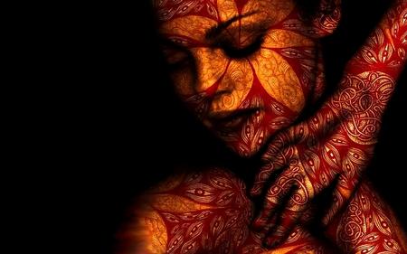 Tribe hennè tattoed woman