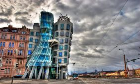 Fred and Ginger Dancing House of Prague, by Ali Erturk